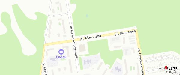 Улица Мальцева на карте Верхней Пышмы с номерами домов