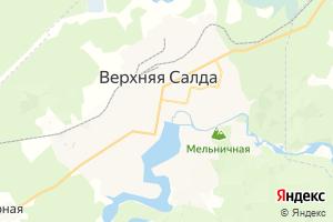 Карта г. Верхняя Салда Свердловская область