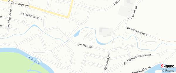 Речной переулок на карте Серова с номерами домов