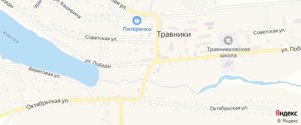 Первомайская улица на карте села Травники с номерами домов