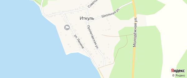 Пролетарская улица на карте села Иткуля с номерами домов