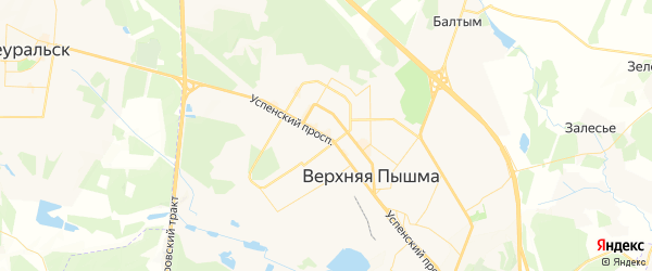 Карта Верхней Пышмы с районами, улицами и номерами домов: Верхняя Пышма на карте России