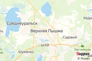 Карта г. Верхняя Пышма Свердловская область