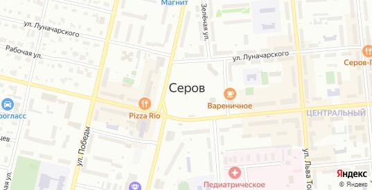 Встречная улица в Серове с номерами домов на карте. Спутник и схема онлайн