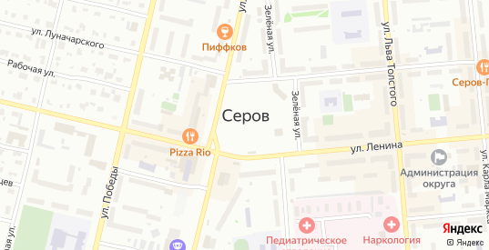 Осенняя улица в Серове с номерами домов на карте. Спутник и схема онлайн