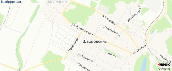 Карта Шабровского поселка города Екатеринбурга в Свердловской области с улицами и номерами домов
