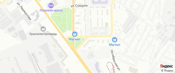 Улица Александра Козицына на карте Верхней Пышмы с номерами домов