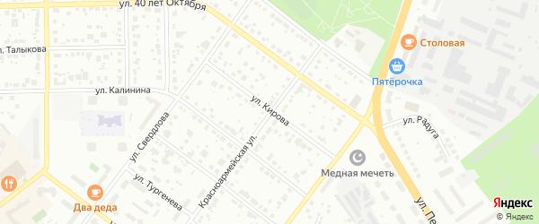 Улица Кирова на карте Верхней Пышмы с номерами домов