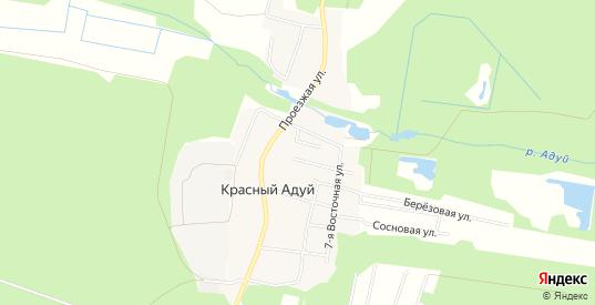 Карта поселка Красный Адуй в Верхней Пышме с улицами, домами и почтовыми отделениями со спутника онлайн