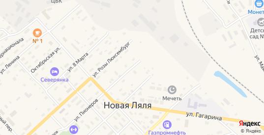Улица Интернационала в Новой Ляле с номерами домов на карте. Спутник и схема онлайн