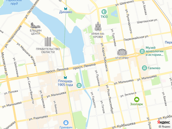 карта екатеринбурга с фото улицами здесь колола