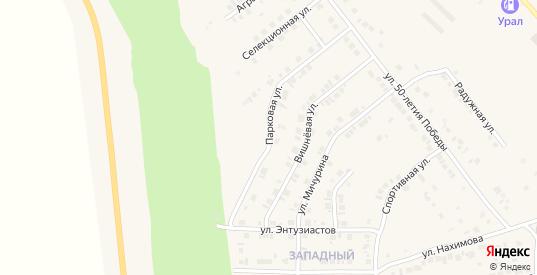 Парковая улица в Карталы с номерами домов на карте. Спутник и схема онлайн
