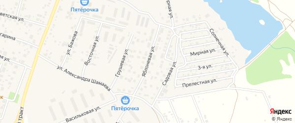 Яблоневая улица на карте Верхней Пышмы с номерами домов