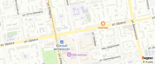 Улица Щорса на карте Екатеринбурга с номерами домов