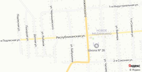 Улица Бабушкина в Серове с номерами домов на карте. Спутник и схема онлайн