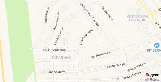 Спортивная улица в Карталы с номерами домов на карте. Спутник и схема онлайн