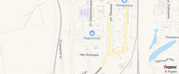 Улица Орджоникидзе на карте Карталы с номерами домов