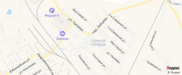 Улица Чапаева на карте Карталы с номерами домов