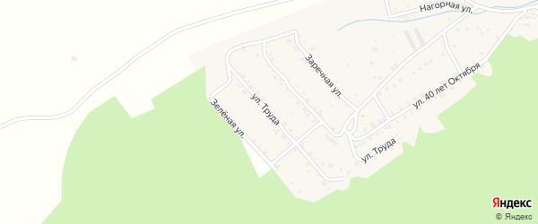 Улица Труда на карте поселка Вишневогорска с номерами домов