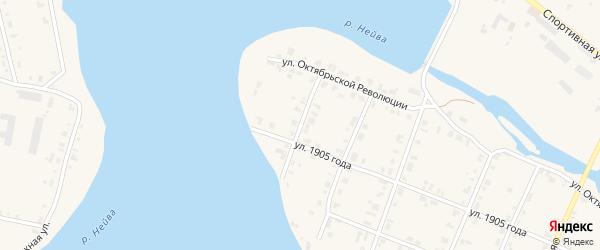 Верхнейвинская улица на карте Петрокаменского села Свердловской области с номерами домов