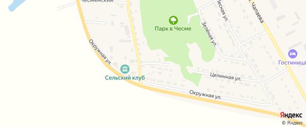 Чесменский переулок на карте села Чесмы с номерами домов