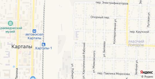 Рассветная улица в Карталы с номерами домов на карте. Спутник и схема онлайн