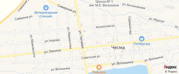 Улица Кирова на карте села Чесмы с номерами домов