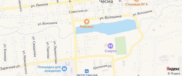 Белорусская улица на карте села Чесмы с номерами домов