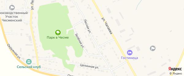 Лесная улица на карте села Чесмы Челябинской области с номерами домов