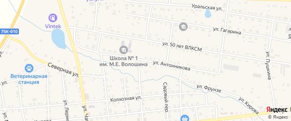 Улица Антонникова на карте села Чесмы Челябинской области с номерами домов