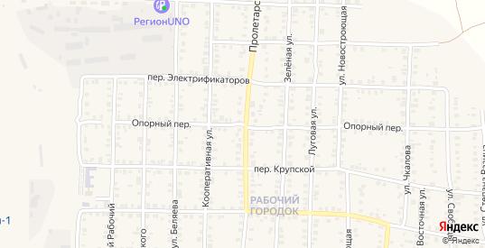 Опорный переулок в Карталы с номерами домов на карте. Спутник и схема онлайн