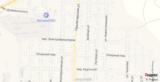 Переулок Электрофикаторов в Карталы с номерами домов на карте. Спутник и схема онлайн