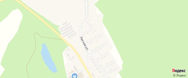 Лесной 5-й переулок на карте поселка Вишневогорска Челябинской области с номерами домов