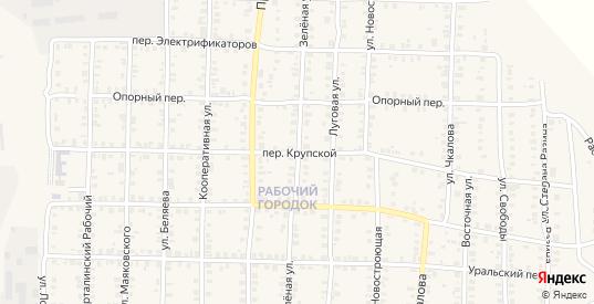 Крупской переулок в Карталы с номерами домов на карте. Спутник и схема онлайн