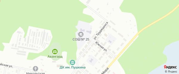 Южная улица на карте Озерска с номерами домов
