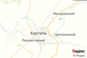 Карта г. Карталы Челябинская область
