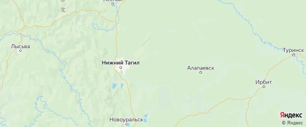 Карта Верхнесалдинского района Свердловской области с городами и населенными пунктами