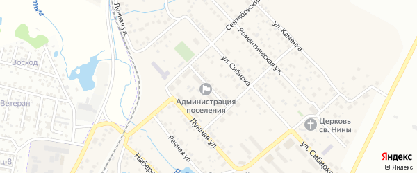 Земская улица на карте Садового поселка с номерами домов
