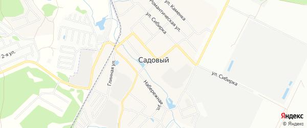 Карта Садового поселка города Екатеринбурга в Свердловской области с улицами и номерами домов