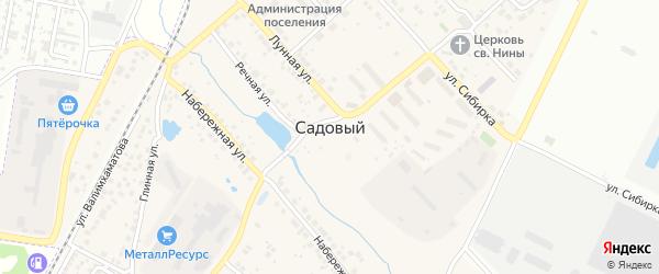 Карнавальная улица на карте Садового поселка с номерами домов