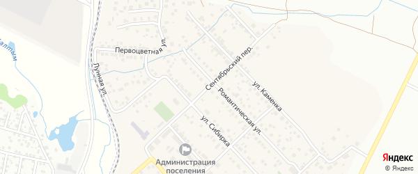 Сентябрьский переулок на карте Садового поселка с номерами домов