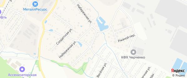 Балтымская улица на карте Садового поселка с номерами домов