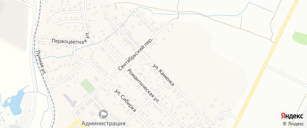 Улица Каменка на карте Садового поселка с номерами домов