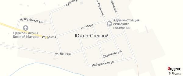 Советская улица на карте Южно-Степного поселка Челябинской области с номерами домов