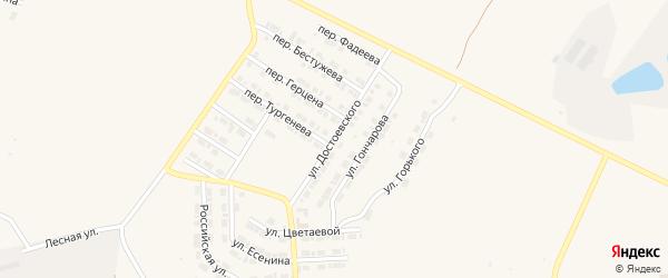 Улица Достоевского на карте Карталы с номерами домов