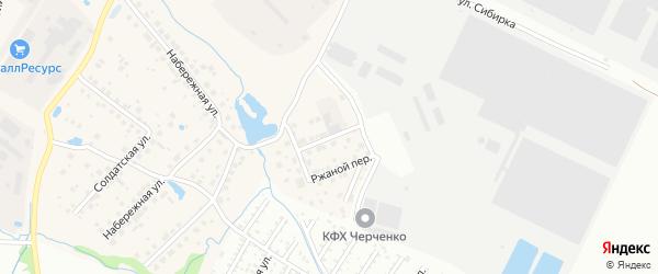 Колосковый переулок на карте Садового поселка с номерами домов