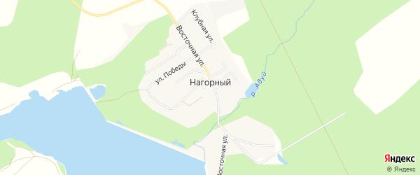 Карта Нагорного поселка города Верхней Пышмы в Свердловской области с улицами и номерами домов