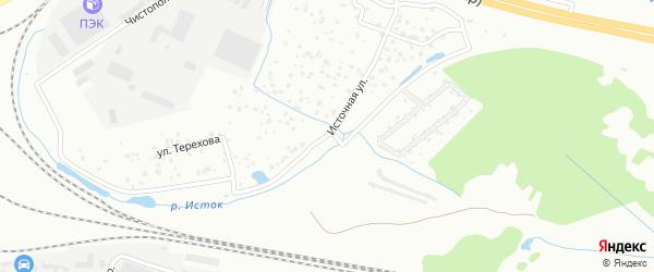 Источная улица на карте Екатеринбурга с номерами домов
