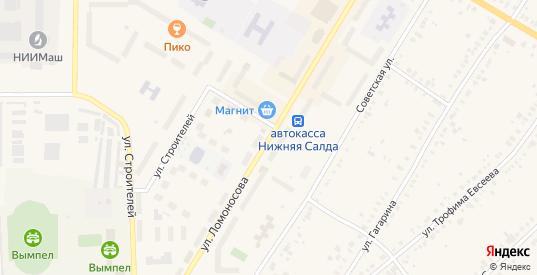 Улица Ломоносова в Нижней Салде с номерами домов на карте. Спутник и схема онлайн