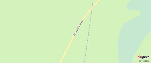 Татышское шоссе на карте Озерска с номерами домов